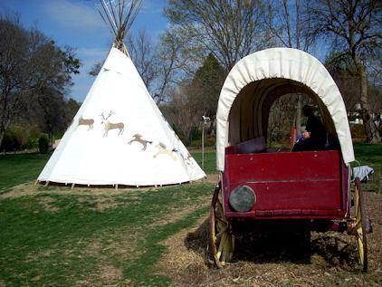 Teepee and Wagon