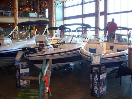 A few boats
