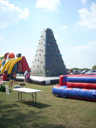 Inflatable Rock Wall!